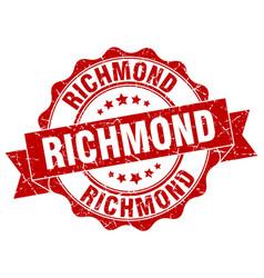 Richmond round ribbon seal vector