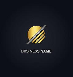 round line company logo vector image