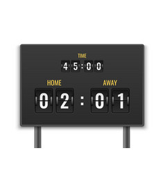 scoreboard number count timer numeric down date vector image