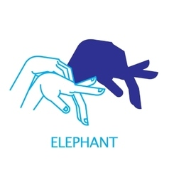 Shadow Hand Puppet Elephant vector