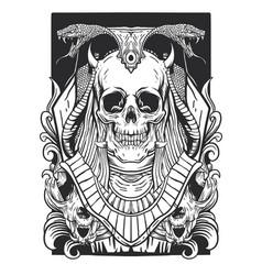 Skull anubis egypt vector
