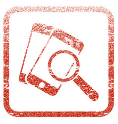 Smartphone magnifier search tool framed textured vector
