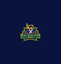 soldier logo icon vector image