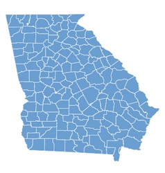 State map of Georgia by counties vector