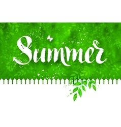 Summer word brush lettering vector image