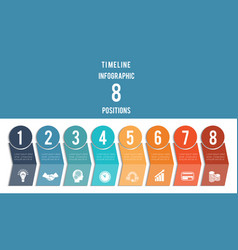 template for infographic timeline colored vector image