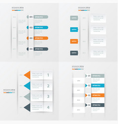timeline design 4 item orange blue gray color vector image