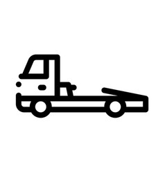 tow cargo truck icon outline vector image