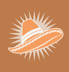 traditional hat mexican clothes image vector image
