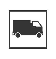 Truck cargo sign vector