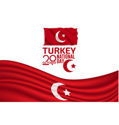 Turkey independence day flag background vector