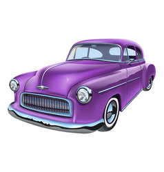 vintage classic american car vector image