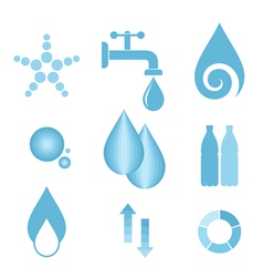 Water Icon set vector image