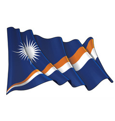 waving flag marshall islands vector image