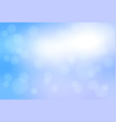 white blue shades abstract with bokeh lights vector image