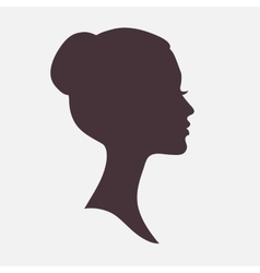 Woman face silhouette with stylish hairstyle vector