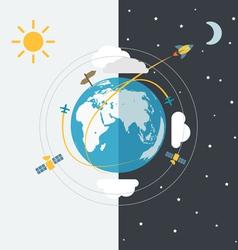 Abstract global modern transport scheme vector image