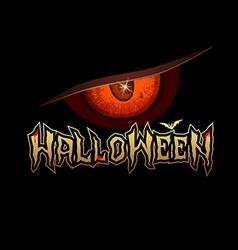 Halloween red eye design background vector image vector image
