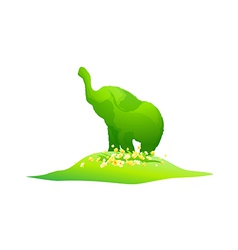 icon elephant shape plant vector image