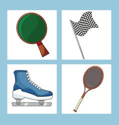 set sport equipment icon vector image vector image