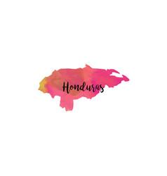 abstract honduras map vector image
