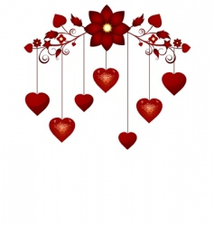 Valentine's hearts vector image vector image