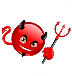 devil emoticon vector image