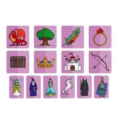 Fairy tale elements set vector image