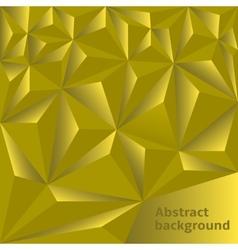 Golden Polygonal background vector image vector image