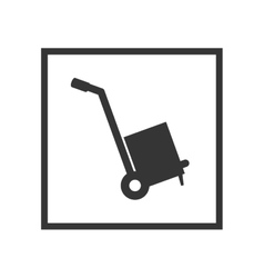 hand cart sign vector image