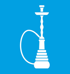 hookah icon white vector image vector image