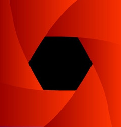 Shutter aperture background or design element vector image
