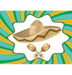 Sombrero and Maracas4 vector image