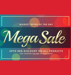 abstract sale voucher template design with vector image vector image