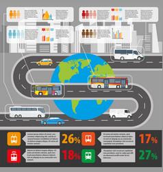 public transport and passenger statistics vector image