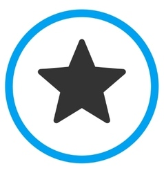 Star Flat Icon vector image