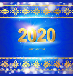 2020 year calendar design template holiday label vector image