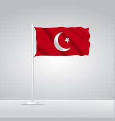 3d realistic turkey flag waving vector
