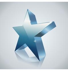 3d star blue vector image