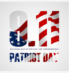 911 patriot day background patriot day september vector image
