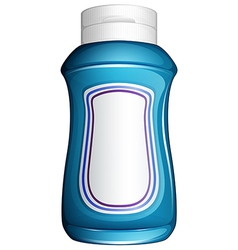 A blue generic bottle vector