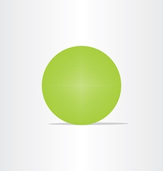 abstract green net globe circle vector image