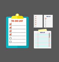 Agenda list concept vector