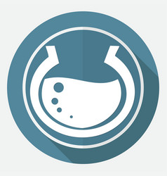 Aquarium icon on white circle with a long shadow vector