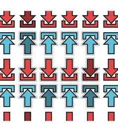 arrows upload and download pattern vector image