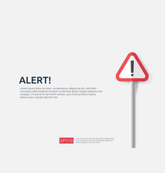 Attention warning alert sign banner with vector