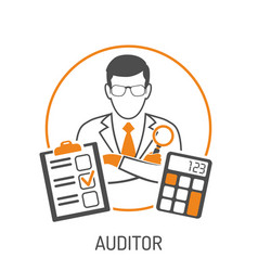 Auditor and accounting concept vector