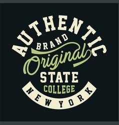Authentic brand original vector