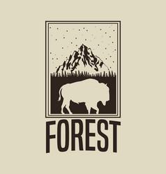beige color background with rectangle frame logo vector image