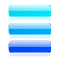 Blue glass buttons vector